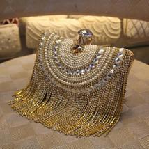 Clutches Evening Bag Gold tassel - $60.99