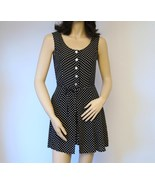 Romper Black and White Polka Dot Size Xs Limited America - $17.00