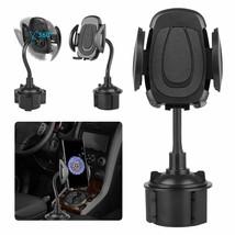360° Adjustable Car Gooseneck Cup Holder Stand Cradle Mount For Universa... - $17.50