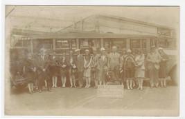 Gray Line Bus Party to Cliff House San Francisco California RPPC postcard - $7.92