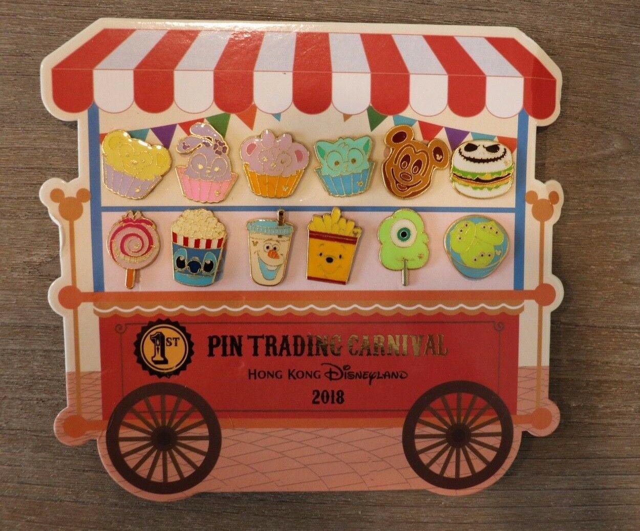 Hkdl Hong Kong Disneyland Disney Pin Intercambio Carnaval 2018 Alimentos Juego