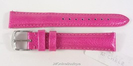 Michele MS16AA350653 16mm Raspberry Pink Patent Leather Watch Strap Band NEW! - $44.99