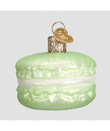 OLD WORLD CHRISTMAS GREEN MACARON FRENCH PASTRY GLASS CHRISTMAS ORNAMENT... - $10.88