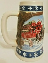 1995 Anheuser Busch BUDWEISER Clydesdale Holiday Stein Mug Lighting The ... - $11.63