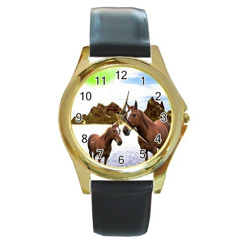 MYSTIC HORSES MARE COLT FANTASY GOLD-TONE WATCH NEW!