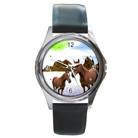 MYSTIC HORSES MARE COLT FANTASY SILVER-TONE WATCH NEW!