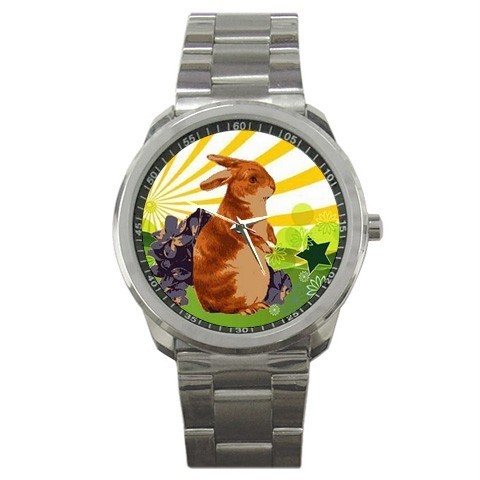 EASTER SPRING BUNNY RABBIT PRETTY SPORTS WATCH NEW!