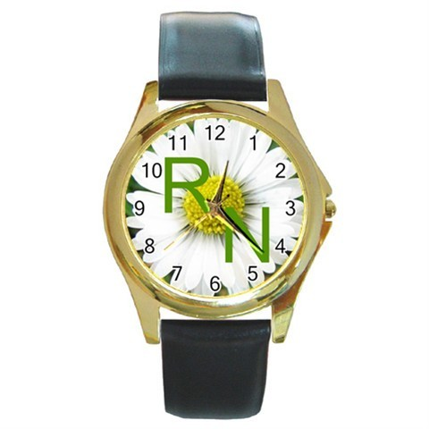 REGISTERED NURSE R.N. DAISY FLOWER GOLD-TONE WATCH NEW!