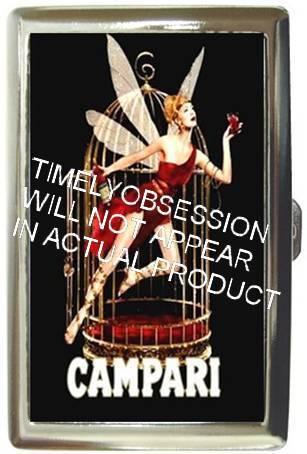 CAMPARI LIQUEUR SEXY RED FAIRY CIGARETTE MONEY CASE