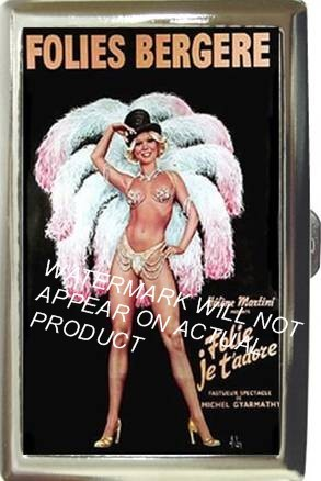 SEXY FOLIES BERGERE CAN-CAN GIRL CIGARETTE MONEY CASE
