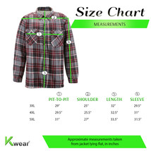 Men's Casual Flannel Button Up Plaid Fleece Warm Sherpa Lined Lightweight Jacket image 2