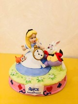 TDL Alice in the Wonderland White Rabbit Dina Pottery Figure Ornament - $78.21