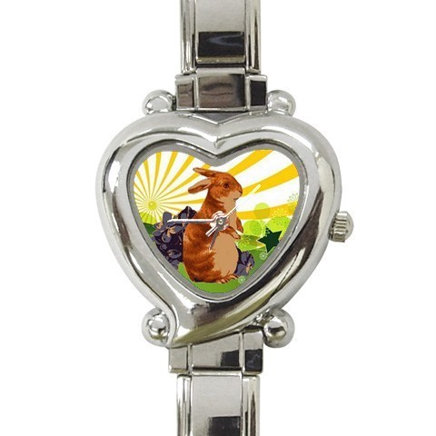 EASTER SPRING BUNNY RABBIT PRETTY CHARM WATCH NEW!
