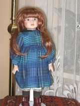 Vintage Porcelain Red Hair Doll Colleen 1992 YLM Europe 40 CM - $67.54