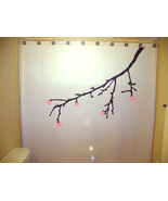 SHOWER CURTAIN Cherry Blossom Tree Branch Flower Floral - $65.00