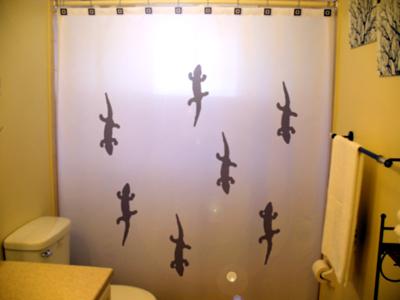 Geckos shower curtain  75