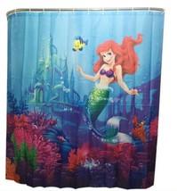 Little Mermaid Ariel Bathroom Shower Curtain Partition Flanders Sebastian - $72.27