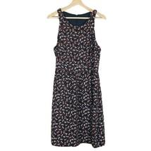 J CREW Women's Sz 10 Sleeveless Midi Dress Sz 10 Navy Brown Printed Crew... - $42.06