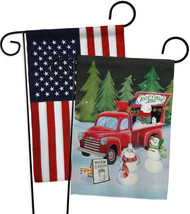Snowmen Hot Cocoa - Impressions Decorative USA - Applique Garden Flags P... - $30.97