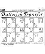 1920's REDWORK Nursery quilt transfer pattern B16065   - $7.00