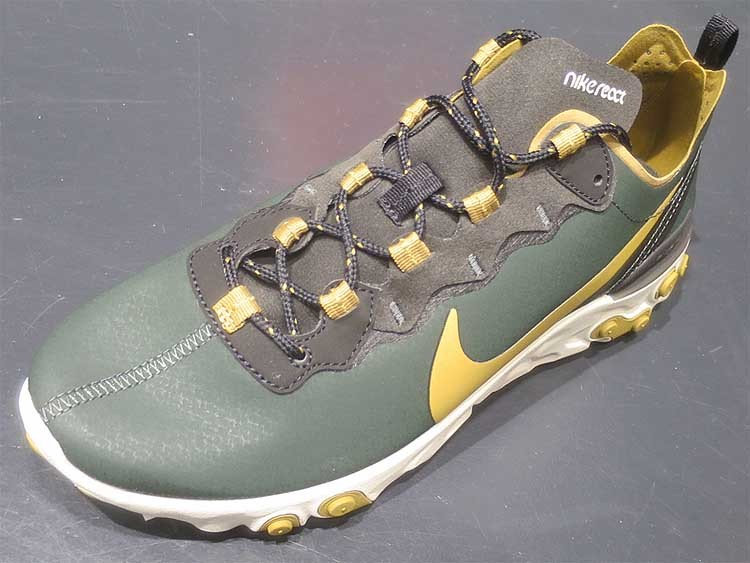 sneakers for cheap 43190 cb3f1 Nike React Element 55 Outdoor Green Golden and 50 similar items