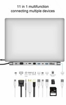 3.0 USB Card Reader HDMI 4K RJ45 HUB Splitter Type C Multi 11 Ports Acce... - $85.20