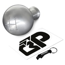 For 79-04 Ford Mustang 5 speed Silver Weighted Round Billet Shift Knob 5 SPD - $22.75