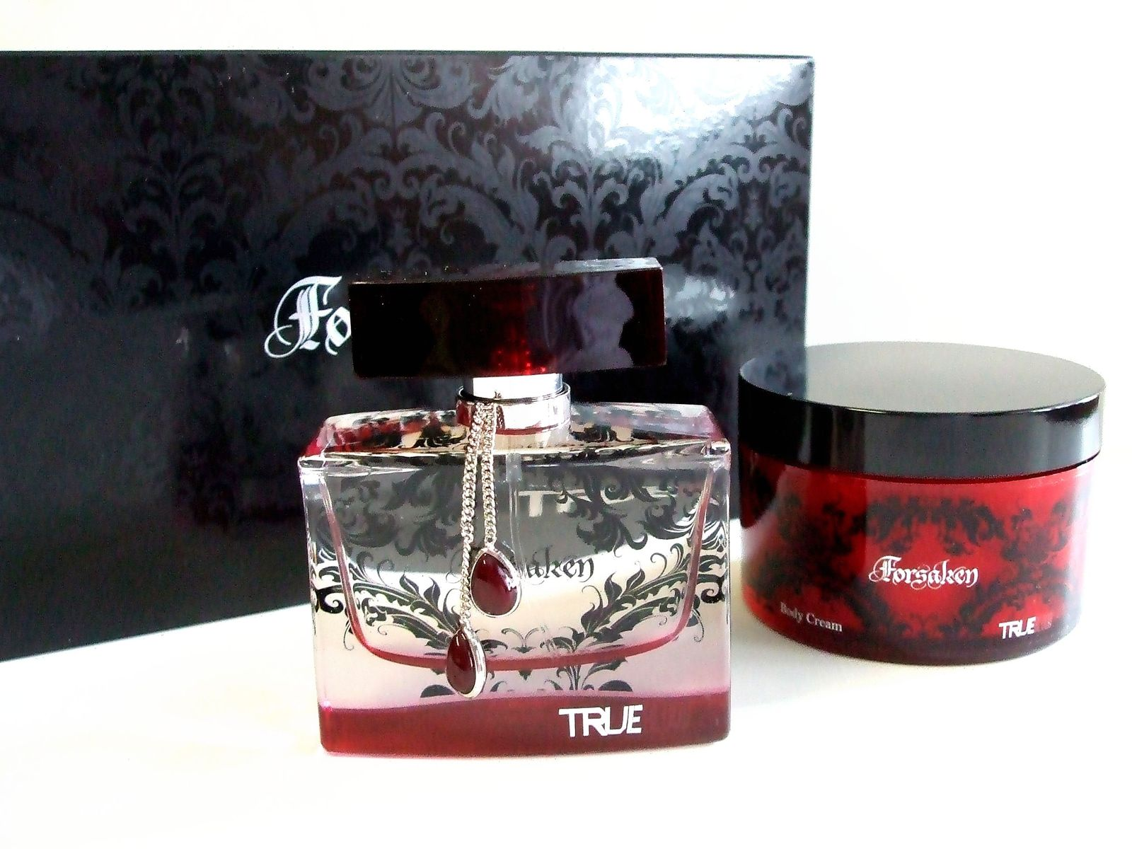 Forsaken True Blood Gift Set Eau de Parfum 1.7 Fl. Oz and Body Cream 4.5 Oz New
