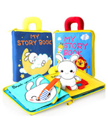 3D Soft Baby Cloth Books Animals Vehicle Montessori Baby Toys For Toddlers - £13.64 GBP