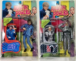 Austin Powers Moon Mission Dr Evil / Carnaby Austin Action Figure lot Mc... - $24.49