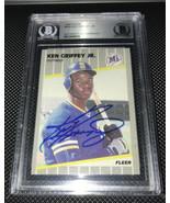 Ken Griffey Jr 1989 Fleer autographed card BAS - $1,000.00