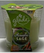 Glade Candle ACOUSTIC SAGE (Dried Sage, Fig Leaves, Brown Sugar) ~3.4 oz... - $6.89