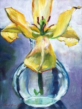 Lilly In A Glass Vase 24x18 Print Giclee Editio... - $22.43
