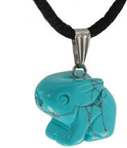 Steampunkers USA Wild Earth Collection - 20mm Bunny Rabbit Turquoise Blu... - $69.20