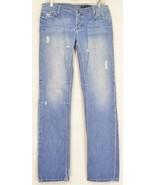 Black Orchid jeans 29 x 32 100% cotton USA boyfriend destroyed button fly - $29.69