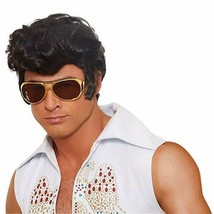 Dreamgirl Rock Legend Elvis Schwarze Perücke Erwachsene Halloween Kostüm... - £13.71 GBP