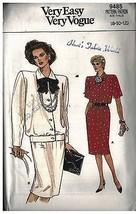 9485 Uncut Vintage Vogue-Schnittmuster Misses Top Rock 8 - 12 Einfach Oo... - $9.89