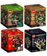 Lego Minecraft collection 4 set (21102, 21105, 21106, and 21107) - retired - $290.99