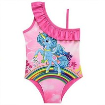 Girl Cartoon Lovely Girl Swimsuit One Piece Swimwear Cute Colorful Unico... - $9.49