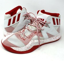 NEW Adidas Mens SM Crazy Bounce Basketball Shoes NBA B39303 White Red Si... - $46.74