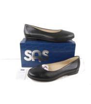 New w Box SAS Womens Size 12 WW Leather Scenic Walking Ballet Flats Shoes Black - $108.85