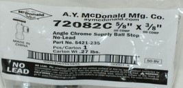 A Y McDonald 5421235 Angle Chrome Supply Ball Stop 5/8 Inch by 3/8 Inches image 2