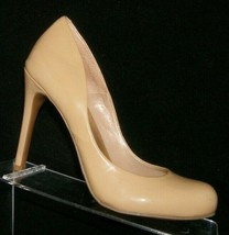 Jessica Simpson Calie beige round toe patent leather sculpted pump heel ... - $30.50