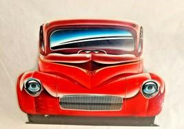 "Huge 16"" Big custom hot rod auto car truck logo USA STEEL plate Metal Sign 1950 - $73.50"