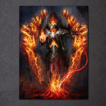1 Pcs Warrior Burning Armor Wall Pictures Home Decor Printed Canvas Pain... - $29.99+