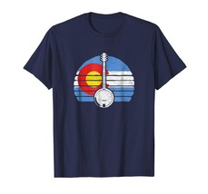 Teacher Style - Colorado Flag Banjo Design - Retro Bluegrass Fan T-Shirt... - $19.95+