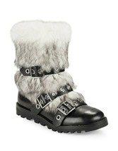 Marc By Marc Jacobs Womens Frost Black Leather Short Winter Boots Size 3... - $177.21