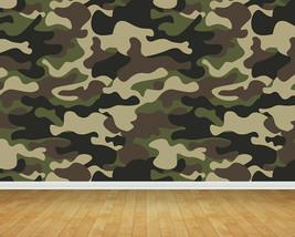 Jungle Army Camouflage Backdrop Wall Art Mural Wall Paper Self Adhesive Vinyl V1 - $43.11+