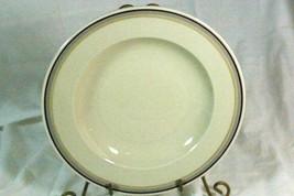 "Hutschenreuther Gelb Turvel Shaped Hut374 3 Color Bands Soup Bowl 9"" - $6.58"