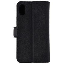 Michael Kors Saffiano Leather Folio Case for Apple iPhone XS/X - Black - $43.44